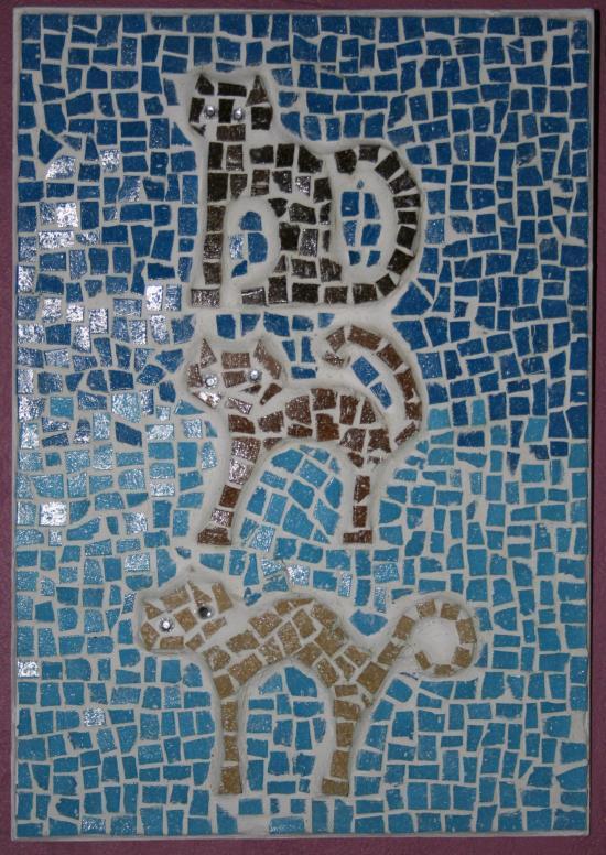 trois petits chats l'atelier de samantha mosaique création mosaique cr
