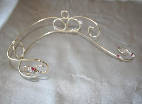 Bien connu Collier & bracelet pour soirée en fil d'aluminium , création de  TR41