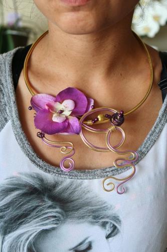 Collier en fil d aluminium l atelier de samantha creation bijoux mariee 2