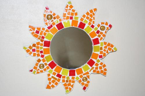 Miroir mosaique soleil latelier de samantha