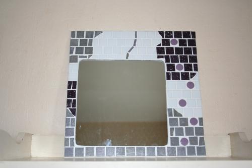 Mosaique artisanale miroir mosaique l atelier de samantha creation artisanale 1 1