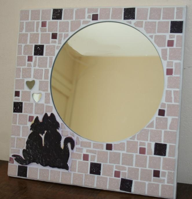 Miroir mosa que couple de cha for Mosaique miroir