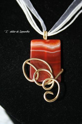 Pendentif agate pierre pendentif pierre creation bijoux fantaisie l atelier de samantha 3