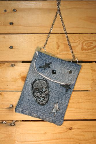 Pochette jean recycle creation sac a main l atelier de samantha creation jean recycle 2