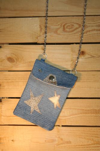 Pochette jean recycle creation sac a main l atelier de samantha creation jean recycle 3