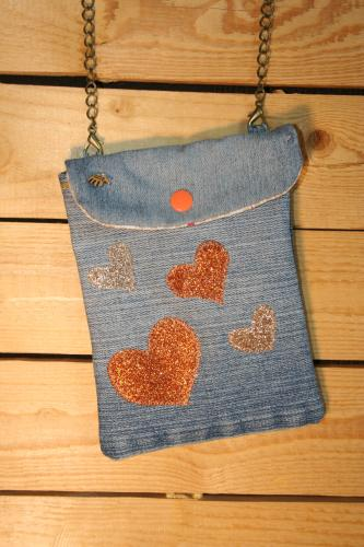 Pochette jean recycle creation sac a main l atelier de samantha creation jean recycle 4
