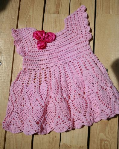 Robe bebe crochet l atelier de samantha creation bebe creation crochet creation bijoux 1