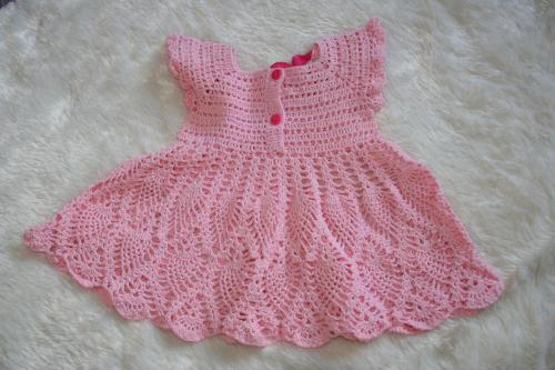 Robe bebe crochet l atelier de samantha creation bebe creation crochet creation bijoux 6