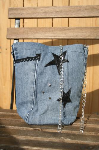 Sac a main jeans recycle l atelier de samantha 2