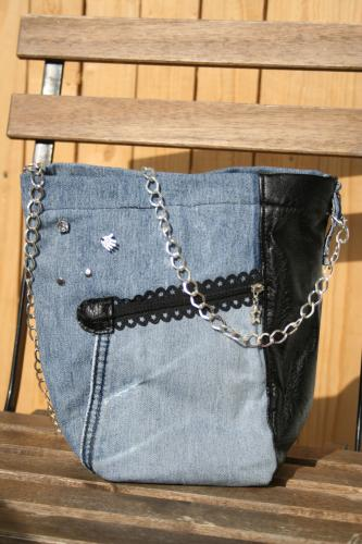 Sac a main jeans recycle l atelier de samantha 3