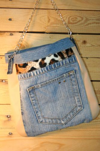Sac a main jeans recycle sac bandouliere sac tendance sac creation sac a main leopard sac a main jeans etoile sac a main etoile 2