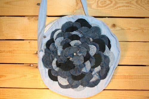 Sac a main rond en jeans sac a main creation sac a main jeans recycle tendance ecolo 4