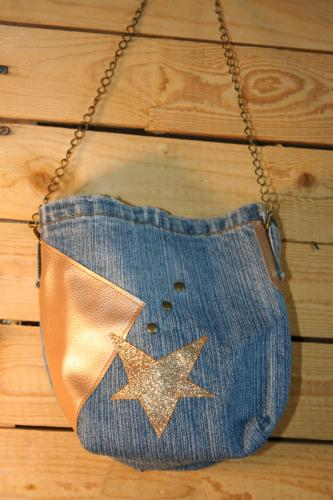 Sac a main sac a main en jeans recycle jeans recycles sac bandouliere sac bandouliere jeans creation sac a main 7